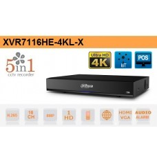 DVR 16 Canali HD CVI AHD TVI ANALOGICO IP 8MP 4K Dahua - XVR7116HE-4KL-X